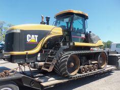 Caterpillar Challenger 65E tractor on a lowboy @ Mowreys