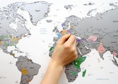 Scratch Off World Map White Silver Worldmap by verryberrysticker i like that this one has the states