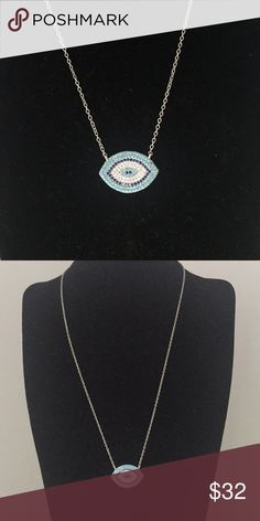 Evil eye protective necklace. Evil eye protective necklace. The evil eye when worn is known to protect that person from any negative thoughts. Adjustable lobster clasp Jewelry Necklaces