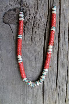 handmade snake and mala bead necklace