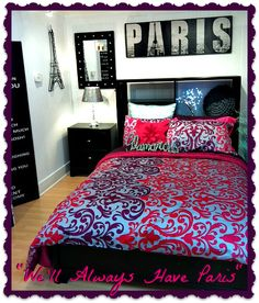 Paris Themed Room Made Easy With A Bold Print Duvet Cover Are Glamorous  Accents
