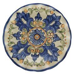Prato em cerâmica,pintados,