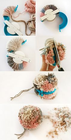 How to make a pom pom with a Clover pom pom maker - We Are Scout tutorial. #pompom #craft #tutorial