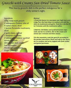 Gnocchi Dishes, Sun Dried Tomato Sauce, Making Gnocchi, Winter Night, Bacon, Recipes, Recipies, Ripped Recipes, Pork Belly