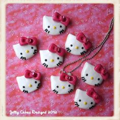 Hello Kitty party favor/cupcake topper set by Jelly Cakes