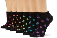 K. Bell Socks Women's Dots, Black, 9-11 K. Bell. $10.00. 97% Polyester/2% Spandex/1% Rubber. Made in China. Trendy patterns. Neon fun socks. Machine Wash