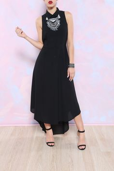 A TRIP DOWN FASHION LANE DRESS (Black) from Kosmios