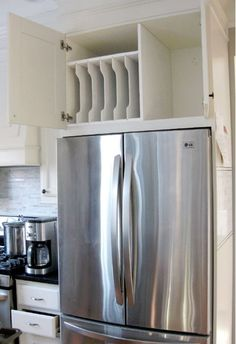The Cabinet Above Her Fridge Was Messy, So She Took EVERYTHING Out And Turned It Into THIS!