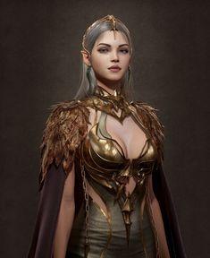 Fantasy Women, Dark Fantasy Art, Fantasy Girl, Anime Fantasy, Fantasy Artwork, Fantasy Inspiration, Character Inspiration, Elf Face, Queen Art