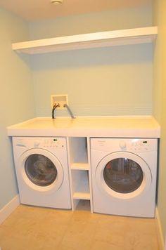regal zwischen waschmaschine und trockner renovierung in 2018 waschk che w sche und haus. Black Bedroom Furniture Sets. Home Design Ideas