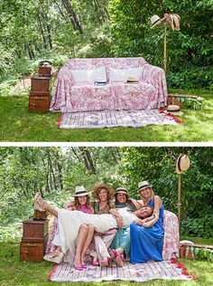 adorable vintagey rustic photo booth!