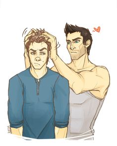...uh, you having fun there Derek?  Stiles is harder to draw and recognise with his new hair…but it's so cute and PERMED and fluffy lookin and *swoons*Derek appreciates it.Prompt@Nad