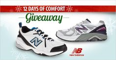 Day 6 of 12 Days of Comfort: New Balance footwear blends function and fashion, offering performance technology with sporty style. Enter to win New Balance shoes on our FootSmart Facebook Page. #12DaysofComfort