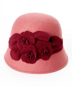 Another great find on #zulily! Betmar Dusty Rose Claudia Wool Hat by Betmar #zulilyfinds