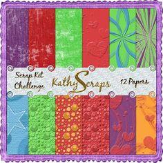 Scrapbooking TammyTags -- TT - Designer - Kathy's Scraps, TT - Item - Paper