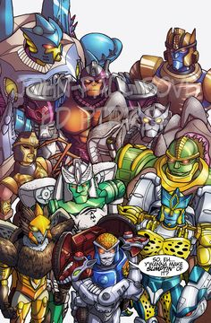 So my regular parter in crime Ed Pirrie aka http://kingoji.tumblr.com/ have a deep and special love for Beast Wars and we talked about homaging the MTMTE #1 cover (itself and homage) and getting to work with some of our favourite characters.So here they are, the good guys. Bad guys to follow…