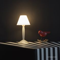 Miss Sissi Modern Table Lamp designed by Philippe Starck for FLOS is a great gift to start a young design lovers collection.