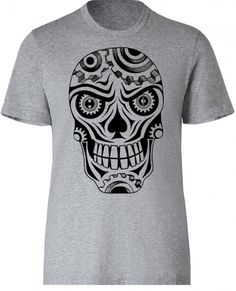 HCD Sugar Skull tshirt. Select your own color combination. There is an H in one eye and CD in the other standing for Hatton Custom Design. #SkullTee #Skulls #handmade #screenprint #americanmade #madeinusa www.aftcra.com
