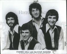 1973 Press Photo Frankie Valli The Four Seasons Bob Gaudio, Tommy Devito, Frankie Valli, Jersey Boys, Press Photo, Soul Music, Playlists, Four Seasons
