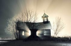 Church in the snow, Canada. The 40 Most Breathtaking Abandoned Places In The World. This Gave Me Chills!