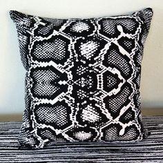 "Arthouse Innovations Python Snake Throw Pillow Size: 18"" H x 18"" W x 4"" D"