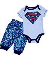 Nickelodeon Baby Baby-boys Infant Superman Boy Bodysuit and Pant Set