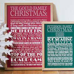 Personalised Christmas Traditions Print - christmas home accessories