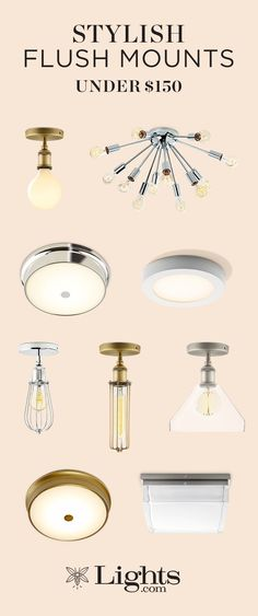 Flush mounts are perfect for adding general bright light to a hallway, bedroom, home office, or any small space, particularly those with low ceilings. Overhead Lighting, Flush Mount Lighting, Kitchen Lighting, Home Lighting, Low Ceiling Basement, Old Kitchen Cabinets, Family Room Design, Home Upgrades, Diy Bedroom Decor