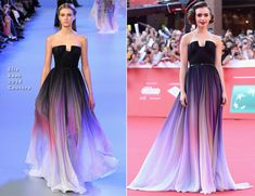 Lily Collins In Elie Saab Couture - Rome Film Festival Premiere