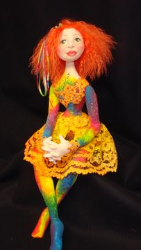 Patti Culea doll  firey-fiesty redhead. A somehow not scary doll!