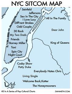Sitcom Map for New York