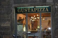 A place I would eat in Italy. It is called Gusta Pizza in Florence, Italy. I would probably (and heads up) eat a lot of pizza in Italy.