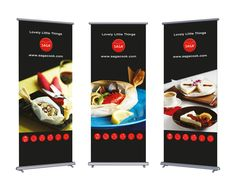 Rollup design for SAGA - baking and cooking paper brand - by Pennanen Design