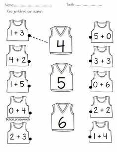 addition worksheets for preschool Kindergarten Math Worksheets, Preschool Learning Activities, Preschool Math, Worksheets For Kids, Teaching Kids, Addition Worksheets, Fun Activities, Numbers Preschool, First Grade Math