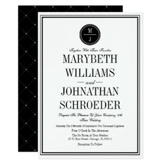 Simple and Elegant Wedding Invitation Card - formal speacial diy personalize style template