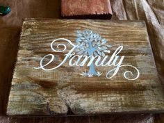 Family Sign by TheRusticWarehouse on Etsy