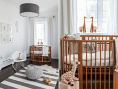 a cool and modern nursery