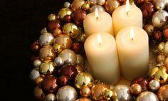 Ghirlanda centrotavola con candele