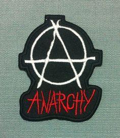 Patch Anarchy Logo Anarchie Anar Punk Révolution Antifa Ecusson Brodé  Applique Badge Thermocollant 1c3e4237967