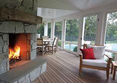 wraparound porch with fireplace