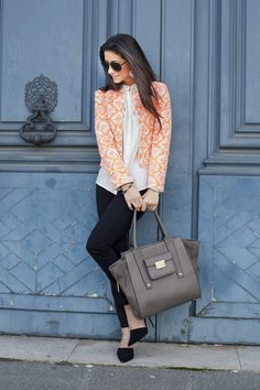This blazer is a fantastic Fall to Spring piece!  Photo credit: Saucy Glossie via StyleList
