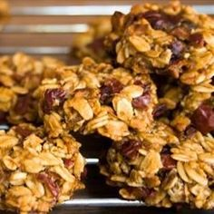 "Healthy Banana Cookies | ""My children love these cookies! I have made them with other dried fruits, chopped apples, even mini chocolate chips!"""