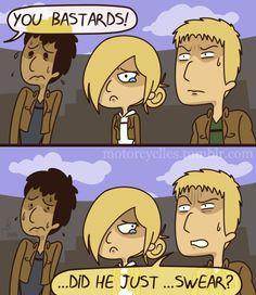 """I Only Blog Freestyle."" Attack On Titan Comic, Attack On Titan Fanart, Mikasa, Manga, Aot Funny, Aot Memes, Haikyuu Karasuno, Levi X Eren, Crazy Funny Memes"