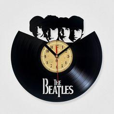 Vinyl Record Clock - The Beatles .