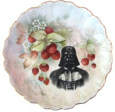 For Decorative Purposes  This is a super fabulous, altered, vintage, hand painted,artist signed porcelain plate. Features a fantastically sweet