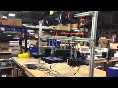 +3DBenchy boats #3Dprintingon hanging +Printrbot Simple #printfarm.  #3DBenchy #Printrbot #PrintrbotSimple +Brook Drumm
