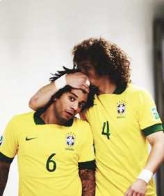 Marcelo because he's like a fucking rainbow of cute. Also because he's getting kissed on the head by my other Brazilian bae.