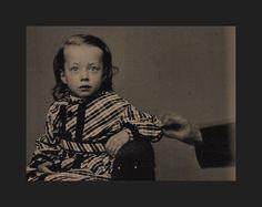 1860s Tintype Little Boy in Dress Disembodied Hand Movement Hidden Mother Int | eBay