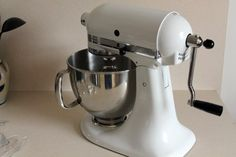 Hand Crank Conversion Kitchen Aid Mixer  - and a host of other hand-crank gadgets and conversion kits. Expensive, but might be worth it?