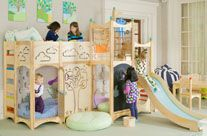 Indoor playground, playbed, playhouse, furniture, and toys Rhapsody Bed 4  ||  via Cedarworks